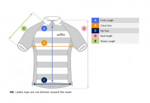 Jersey Sizing Reference